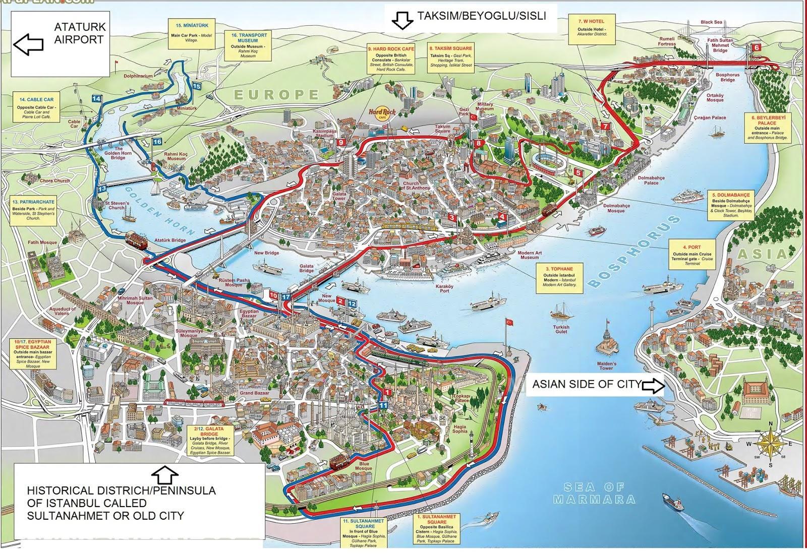 Istanbul 3d Karta Karta Over Istanbul 3d Turkiet