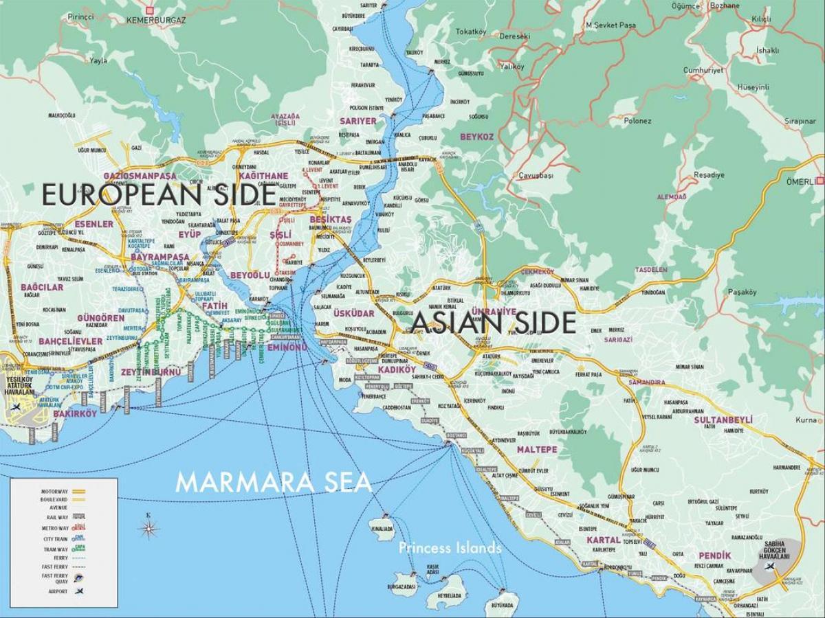 Yenibosna Istanbul Karta Karta Over Yenibosna Istanbul Turkiet